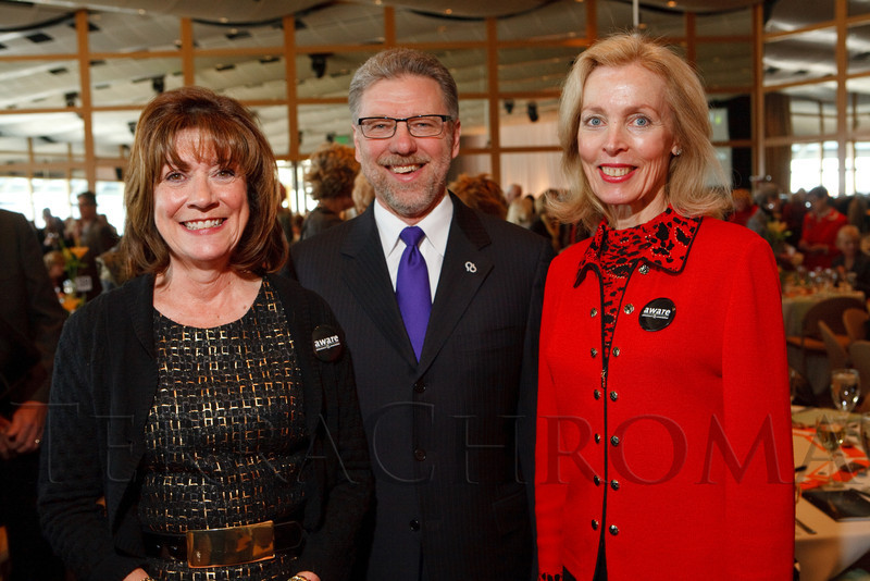 """(Denver, Colorado, Nov. 9, 2011)<br /> Kathy Klugman, Harry Johns, and Jerilyn Bensard.  The """"2011 Memories Lost & Found Luncheon,"""" benefiting the Alzheimer's Association of Colorado, at The Denver Center for the Performing Arts, Seawell Ballroom, in Denver, Colorado, on Wednesday, Nov. 9, 2011.<br /> STEVE PETERSON"""