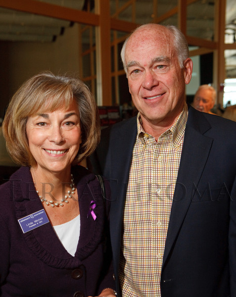 "(Denver, Colorado, Nov. 9, 2011)<br /> Linda Mitchell and John Fielder.  The ""2011 Memories Lost & Found Luncheon,"" benefiting the Alzheimer's Association of Colorado, at The Denver Center for the Performing Arts, Seawell Ballroom, in Denver, Colorado, on Wednesday, Nov. 9, 2011.<br /> STEVE PETERSON"