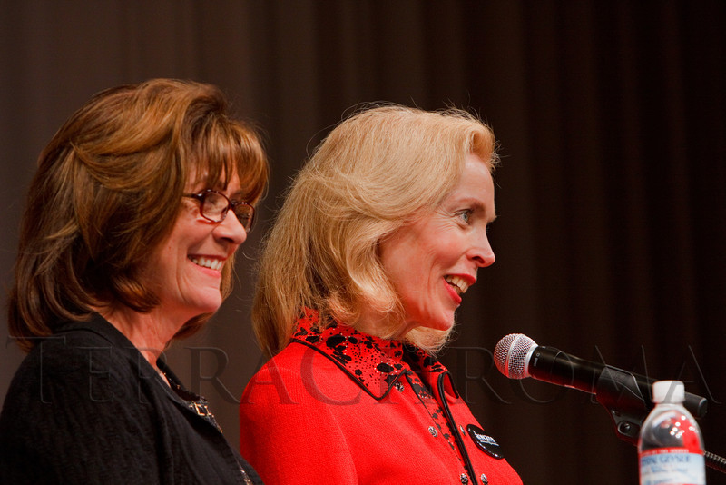 """(Denver, Colorado, Nov. 9, 2011)<br /> Kathy Klugman and Jerilyn Bensard.  The """"2011 Memories Lost & Found Luncheon,"""" benefiting the Alzheimer's Association of Colorado, at The Denver Center for the Performing Arts, Seawell Ballroom, in Denver, Colorado, on Wednesday, Nov. 9, 2011.<br /> STEVE PETERSON"""
