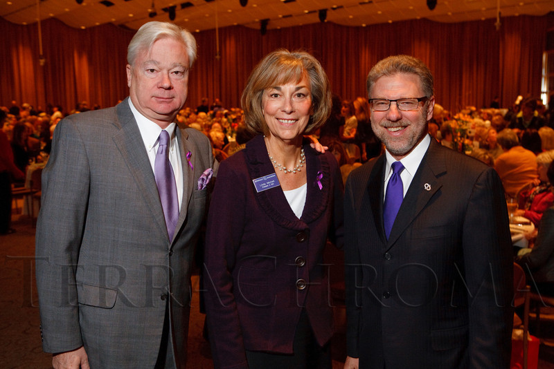 "(Denver, Colorado, Nov. 9, 2011)<br /> Barry Petersen, Linda Mitchell and Harry Johns (President and CEO at the Alzheimer's Association national office in Chicago, IL).  The ""2011 Memories Lost & Found Luncheon,"" benefiting the Alzheimer's Association of Colorado, at The Denver Center for the Performing Arts, Seawell Ballroom, in Denver, Colorado, on Wednesday, Nov. 9, 2011.<br /> STEVE PETERSON"
