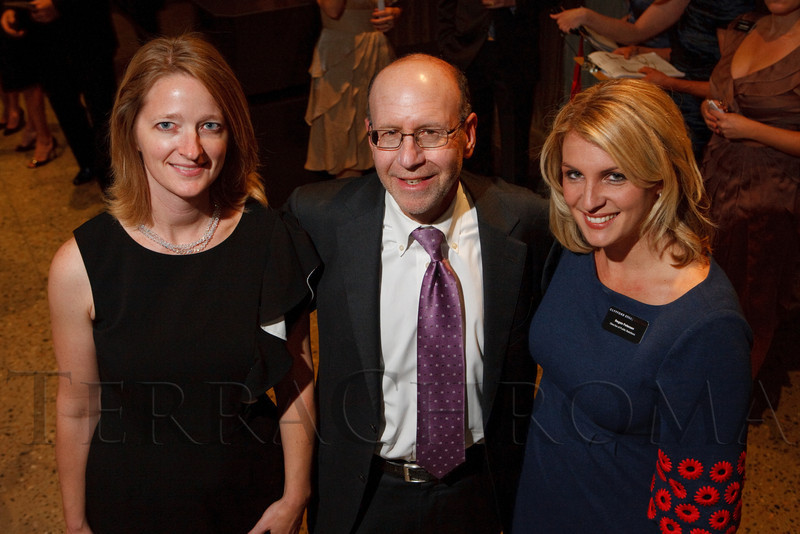Erin Trapp, Steve Sander, and Regan Petersen.  Grand opening celebration of the Clyfford Still Museum at the Clyfford Still Museum in Denver, Colorado, Wednesday, Nov. 16, 2011.  Photo Steve Peterson, Special to the Denver Post