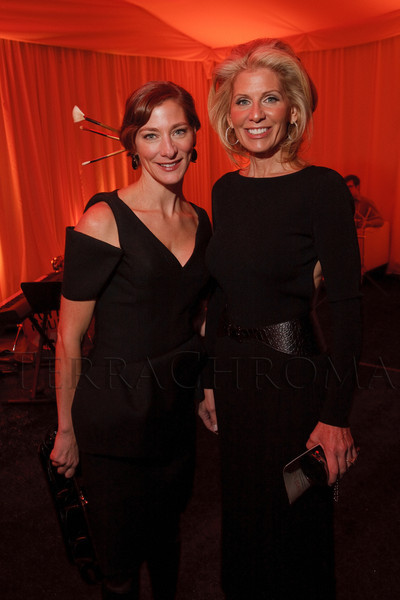 Natalie Rekstad-Lynn and Joy Dinsdale.  Grand opening celebration of the Clyfford Still Museum at the Clyfford Still Museum in Denver, Colorado, Wednesday, Nov. 16, 2011.  Photo Steve Peterson, Special to the Denver Post