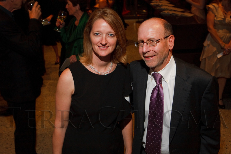 Erin Trapp and Steve Sander.  Grand opening celebration of the Clyfford Still Museum at the Clyfford Still Museum in Denver, Colorado, Wednesday, Nov. 16, 2011.  Photo Steve Peterson, Special to the Denver Post