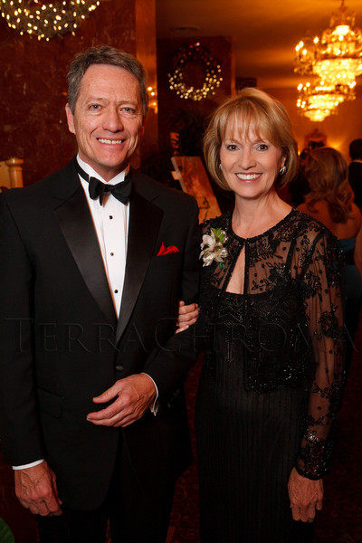 Peter Johnson and Marie Belew Wheatley.  Presentation of the 2011 Sugarplums during the 2011 Sugarplum Ball, presented by the Colorado Ballet Auxiliary, at the Brown Palace Hotel & Spa in Denver, Colorado, on Friday, Nov. 25, 2011.<br /> Photo Steve Peterson