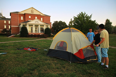 Campout Carolina on Gardner-Webb University's quad; October 7, 2011.