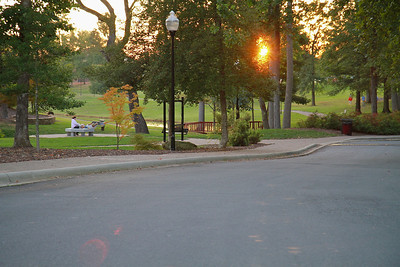 Sunset during the Campout Carolina event on Gardner-Webb University's quad; October 7, 2011.