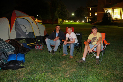Campout Carolina campers on Gardner-Webb University's quad; October 7, 2011.