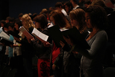 Choral Clinic with guest director Brad Holmes; Fall 2011.