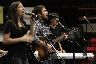 The Unworthy Beloved lead worship at Fields of Faith.
