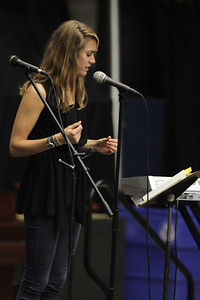 Elisabeth Sawyer shared her testimony at Fields of Faith.