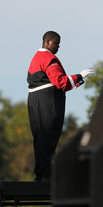 Chad Roseboro, drum major for GWU marching band.