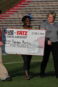 Ragan Burke won a 500 scholarship sponsored by Bulldog club and Fatz.