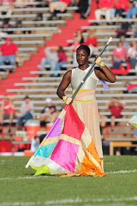 Color gaurd for GWU marching band.