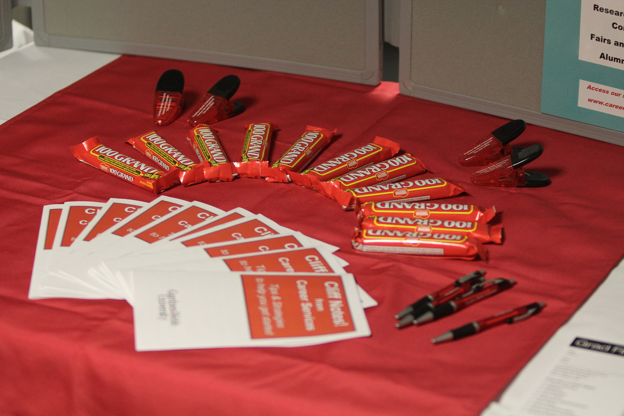 Candy and info given out at the Grad Finale.