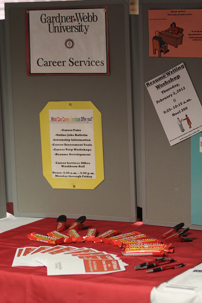 Representatives from Career Services were at the Grad Finale.