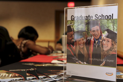 A representative from graduate school was available to talk to students about grad school possibilities.