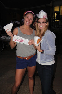 Midterm Munchies on the quad. Free Krispy Kreme Doughnuts!