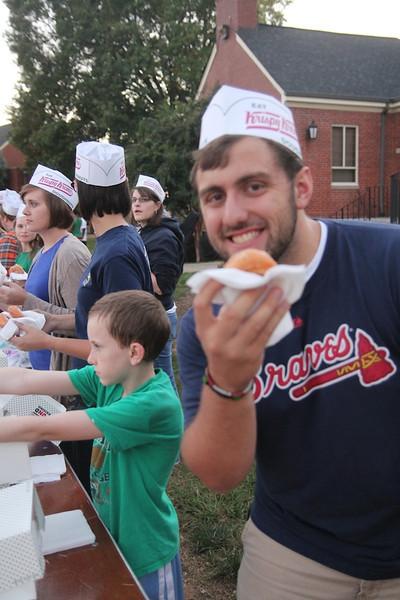 Midterm Munchies on the quad. Free Krispy Kreme Doughnuts!