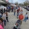 Tribune-Star/Jim Avelis<br /> Festive day: Festival goers crowd the main thoroughfare in Bridgeton Sunday afternoon, looking for bargains and festival food.