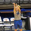 Tribune-Star/Joseph C. Garza<br /> She made it: Indiana State's Brittany Schoen shoots a three-point basket during team practice Friday at Hulman Center.