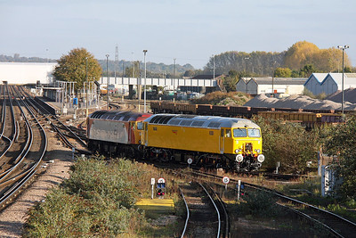 57312 Eastleigh 22/10/11 with 57310
