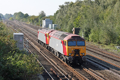 57305 Worting Junction 03/10/11 0Z57 Tonbridge to Eastleigh