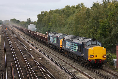 37611 Worting Junction 12/10/11 6V27 Eastleigh to Hinksey with 37601