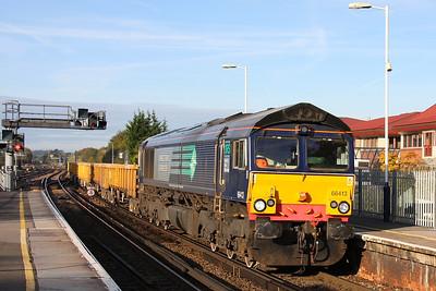 66413 Basingstoke 20/10/11 6Z22 Eastleigh to Stud Farm