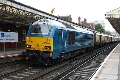 67003 Basingstoke 21/10/11 on the rear of 1Z93 Basingstoke to Bournemouth