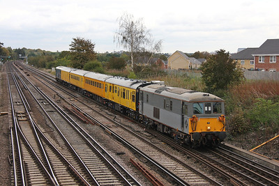 73107 Worting Junction 17/10/11 1Q07 Selhurst to Eastleigh with 73201 on the rear
