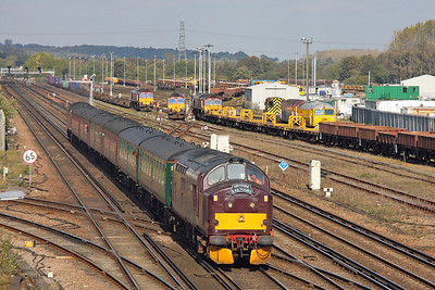37685 Eastleigh 22/10/11 on the rear of 1Z37 Hamworthy to Winchester 'Routes and Branches 3'