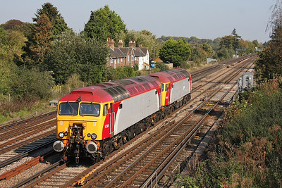 57301 Worting Junction 03/10/11 0Z57 Tonbridge to Eastleigh with 57305