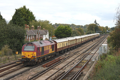 67030 Worting Junction 21/10/11 on the rear of 1Z92 Bournemouth to Basingstoke