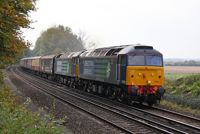47828 Micheldever 23/10/11 1Z65 Southampton to Edinburgh with 47802