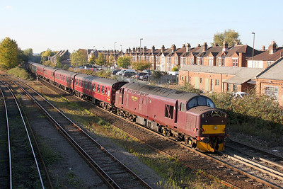 37706 Eastleigh 22/10/11 on the rear of 1Z37 Paddington to Hamworthy 'Routes and Branches 3'