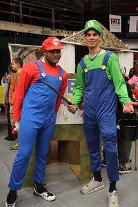 Mario and Luigi made a surprise visit.
