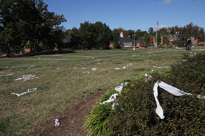 Despite numerous efforts by tha uthorities, students still Toilet Paper GWU's campus for Homecoming.
