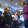 Tour: Several Indiana State University students listen to C-SPAN spokesperson Jennifer Curran as they tour the C-SPAN bus Friday afternoon.