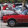 Tribune-Star/Jim Avelis<br /> Interested party: Michael Scioritino looks over a 1968 Camaro Ralley Sport at the Ivy Tech Community College Wabash Valley car show Saturday afternoon.