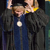 Tribune-Star/Jim Avelis<br /> Installed: Kathleen Wentland Lubeznik performed the investiture of Dottie King as the 16th president of St. Mary-of-the-Wood's college.