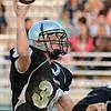 Tribune-Star/Jim Avelis<br /> Open look: Northview quarterback Damon Hyatt looks to an open reciever.