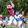 Got it: Rose-Hulman's #82, Joel Stiffler hauls in a pass against Mount St. Joseph Saturday afternoon at Cook Stadium.