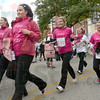 Too legit: A group of runners head for the finish line during Saturday's Race for the Cure.