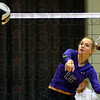 Tribune-Star/Jim Avelis<br /> Kill: Clay City outside hitter Brielle Drelick watches her spike fly over the net in the Eel's match with Shakamak Saturday night.