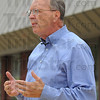 Tribune-Star/Jim Avelis<br /> Plans in the making: Terre Haute mayoral challenger Fred Nation talked about the closed Family Y in a press conference Wednesday afternoon. He put forth plans for a public-private cooperation to get the facility reopened.