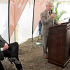 Tribune-Star/Joseph C. Garza<br /> A great place to live with a new hospital: Marshall, Ill., Mayor Ken Smith discusses how a new hospital will also attract new business as he addresses the audience at the groundbreaking ceremony for the new Cork Medical Center Wednesday in Marshall.