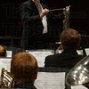 "Tribune-Star/Jim Avelis<br /> Direct approach: Douglas Keiser directs the Indiana State University Symphonic Band in ""Celtic Hymns and Dances"" by Eric Ewazen. The occasion was the opening concert of the 45th Contemporary Music Festival."