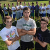 Tribune-Star/Jim Avelis<br /> Team effort: West Vigo soccer is led by Nathan and Andrew Kump who flank Nathan Gregg. The standout trio are backed by the rest of the team.