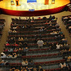 Tribune-Star/Jim Avelis<br /> Room for more: There were plenty of empty seats in the Woodrow Wilson Middle School auditorium for Tuesday night's mayoral debate.