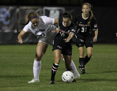 Mackenzie Davis, 13, defends the ball.
